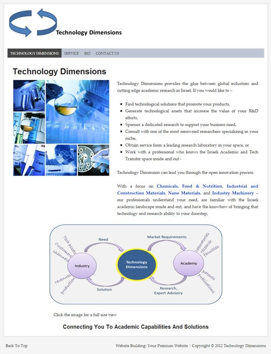 Technology-Dimensions - Wordpress based website by Double You
